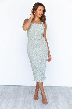 Sammi Dress - Sage Lace Dress, Strapless Dress, White Dress, Bodycon Dress, Semi Formal Dresses, Womens Fashion Stores, Floral Prints, Bridesmaid, Bump