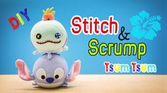 Disney Stitch and Scrump Tsum Tsum Sock Plush Tutorial - Free pattern DIY