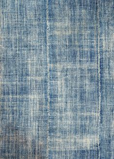 Ind260 - Hand-spun cotton natural indigo dyed strip woven woman's cloth from the Mossi peoples of Burkina Faso. Fringed, soft texture. Strip...