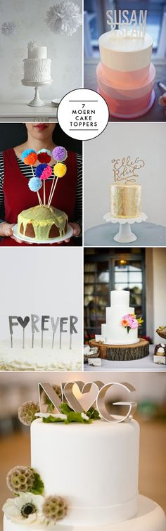 7 modern cake toppers