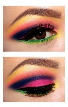 Bright Neon Eye Makeup