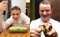Chefs Jason Atherton and Theo Randall prepare for the Taste of London festival