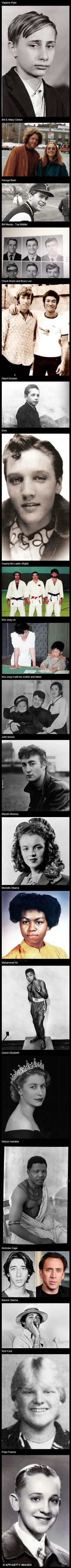 20 famous people when they were young.