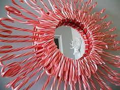 Candy cane mirror