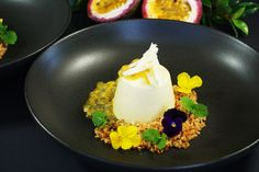 White Chocolate Panna Cotta, Passionfruit and Coconut Crumb - Temptation For Food