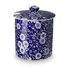 Blue Calico Straight Sided Covered Jam 250g/ 0.5lb