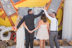 Neon Sign Museum Wedding - Las Vegas, Nevada Bride and Groom Photography - Bridesmaid and Best man photo
