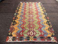 """Turkish Kilim Rug,5,7""""x9,7"""" Feet 170x292 Cm Handmade Vintage Home Floor Decor Anatolia Kelim Rug,turkish Kilim Rug."""
