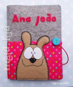 Diy Notebook Cover, Felt Pouch, Felt Purse, Felt Animal Patterns, Stuffed Animal Patterns, Felt Mobile, Felt Dogs, Barrettes, Dog Pattern