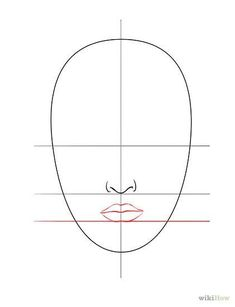 Bildtitel Draw a Face Step 4 dibujo Ein Gesicht zeichnen Human Face Drawing, Drawing Faces, Drawing Sketches, Drawing Tips, Drawing Portraits, Drawing Drawing, Realistic Drawings, Easy Drawings, Pencil Drawings