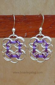 Handcrafted chain-mail earrings- love the concept