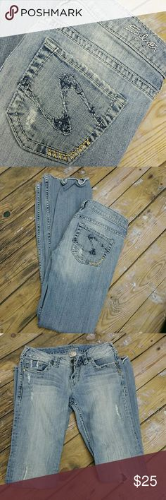 Silver Aiko Jeans Nice distressed jeans.  27x33 Silver Jeans Jeans Boot Cut