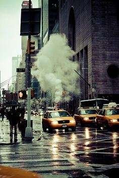 57th Street after the rain. New york city, NYC