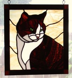 Items similar to Stained Glass Hanging Window (Pet Portrait) – Custom Only on Etsy – Verre et de vitrailes Stained Glass Cardinal, Faux Stained Glass, Stained Glass Patterns, Stained Glass Windows, Vitrail Cardinal, L'art Du Vitrail, Fabric Embellishment, Origami, Traditional Quilts