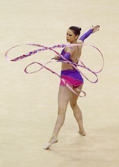 Frankie Jones competing in the rhythmic gymnastics competition at London 2012