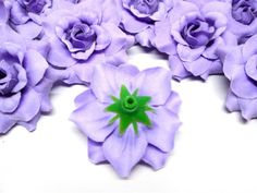 """$7  Amazon.com - (24) Silk Purple Roses Flower Head - 1.75"""" - Artificial Flowers Heads Fabric Floral Supplies Wholesale Lot for Wedding Flowers Accessories Make Bridal Hair Clips Headbands Dress -"""