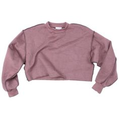 Raw Detail Crop Sweater (19.655 CLP) ❤ liked on Polyvore featuring tops, sweaters, - clothes, cut-out crop tops, purple crop top, cropped sweater, purple sweater and purple top