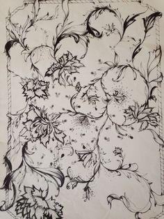 Floral in pen