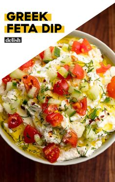 You'll Lose Your Mind Over This Greek Feta DipDelish drinking game You'll Lose Your Mind Over This Greek Feta Dip Healthy Appetizers, Appetizer Dips, Appetizers For Party, Appetizer Recipes, Healthy Snacks, Healthy Recipes, Greek Appetizers, Greek Recipes, New Recipes