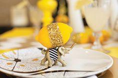 Glitter-Dipped Lemons + Gold Elephants! – #MADHOUSE Lemonwood Inspired Tablescape