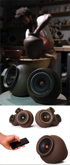 Listening to the Sound of the Eart Chilean designer Pablo Ocqueteau wanted to give a new idea of tradition. And he did. Made of clay, his speakers are an interface between past and present, a mix between ancient pottery cultural techniques and modern audio wireless technology.