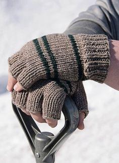 Manly Fingerless Gloves - Blue Sky Fibers