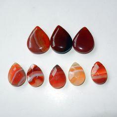 Red Orange Teardrop Agate Beads by CloudNineSupplyShop on Etsy, $12.00 #etsysns #handmadebot