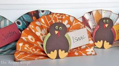 The Happy Scraps: Thanksgiving Place Cards