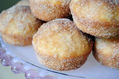 """""""Sin""""amon Morning Muffins:Muffins that taste JUST like cinnamon-sugar donut holes.  No frying required."""