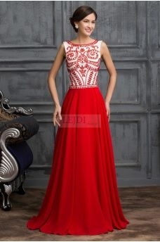 Długa czerwona suknia wieczorowa w stylu Sherri Hill 11146