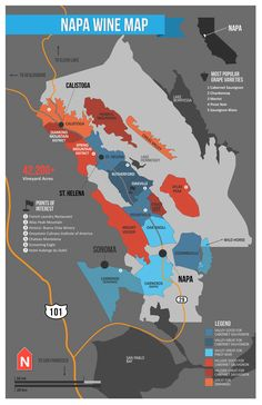 Napa Valley Map | Wine Folly
