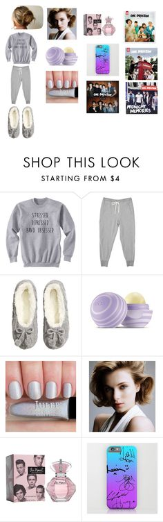 """A Day In For The 1D Fangirl"" by roxy-crushlings ❤ liked on Polyvore featuring H&M and Eos"
