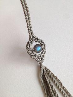 シンプルネックレス* の画像|S*mai*L 石と糸のアクセサリー