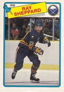 ray sheppard o-pee-chee rookie hockey card buffalo sabres
