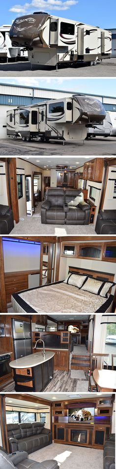 Living room up front, up stairs, we looked at these, so very nice...2015 Grand Design Solitude 379FL | Luxury Fifth Wheel RV