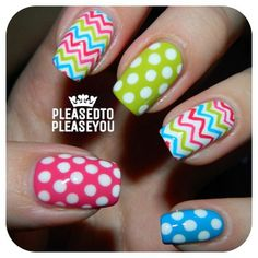 .@pleasedtopleaseyou | Super fun mani inspired by a fleece tie blanket I helped make at a church act... | Webstagram - the best Instagram viewer