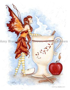 Cider Faery by Amy Brown