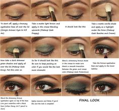 Green smokey eye tutorial