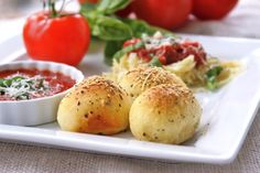 Menu Musings of a Modern American Mom: Meatball Stuffed Buns. These are SO delicious!! I made them with the Our Best Bites recipe for Italian Meatballs and half of a Rhodes Rolls dough roll. We will def be making these a lot.-KimK-
