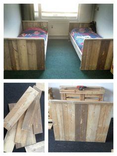 Bed from scaffolding-wood  Bed van steigerhout