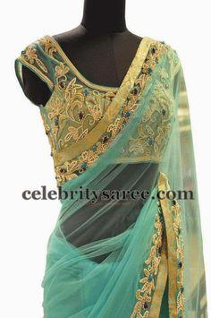 Net Blouse with Zardosi Work | Saree Blouse Patterns