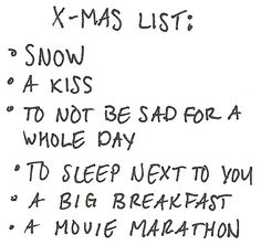perfect, the best christmas list ever!