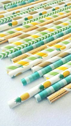 Check out this item in my Etsy shop https://www.etsy.com/listing/511355339/pineapple-party-straws-pineapple-theme