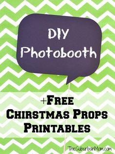 DIY Photobooth And Free Printable Christmas Photo Booth Props