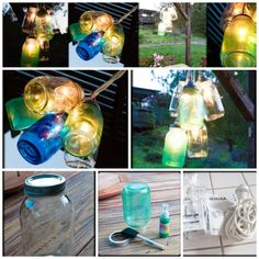 Colorful Canning Jar Lights | 28 Outdoor Lighting DIYs To Brighten Up Your Summer