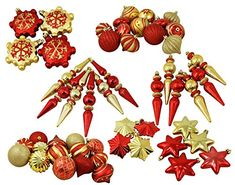 57ct Red and Gold 3Finish Shatterproof Christmas Ornaments -- This is an Amazon Affiliate link. You can find out more details at the link of the image.