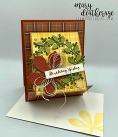 Stampin' Up! Love of Leaves Plaid Itty Bitty Birthday with Video Tutorial | Stamps – n - Lingers