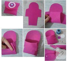 Pembe keçeden cüzdan yapımı