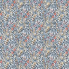 Golden Lily by Morris - Silver / Mist - Wallpaper : Wallpaper Direct Bathroom Wallpaper, Wall Wallpaper, Silver Mist Wallpaper, Liberty Wallpaper, Morris Wallpapers, Classic Wallpaper, William Morris, Designer Wallpaper, True Colors