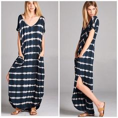 Tye Dye Pocket Maxi Dress